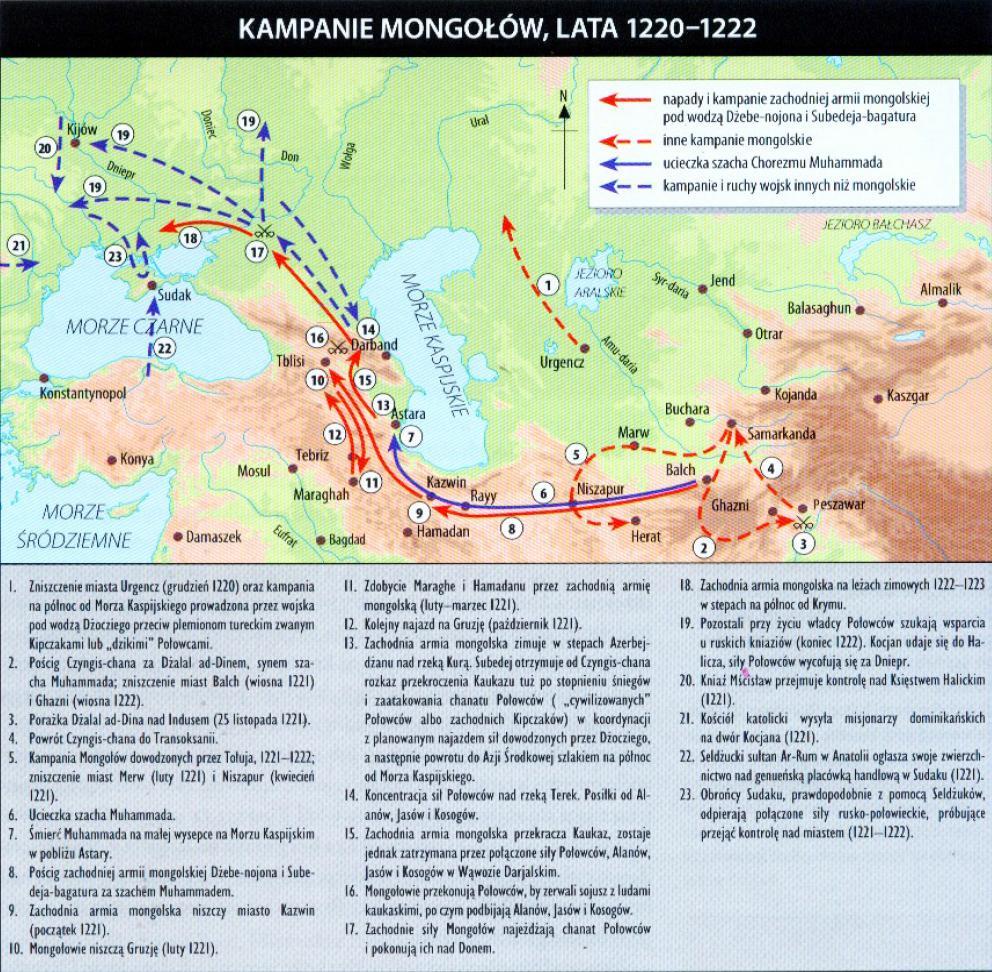 kampanie mongołów