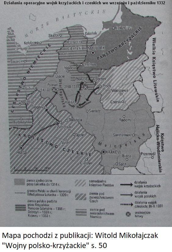 Działania operacyjne wojsk krzyżackich i czeskich we wrześniu i październiku 1332 roku