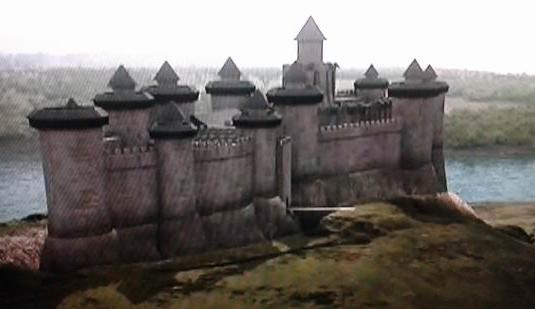 Wizualizacja twierdzy Château Gaillard