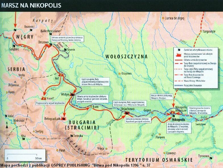marsz krzyżowców do Nikopolis